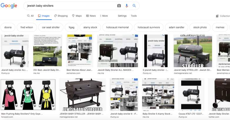 'Jewish Baby Strollers' Google Search Returns BBQ Grill Image