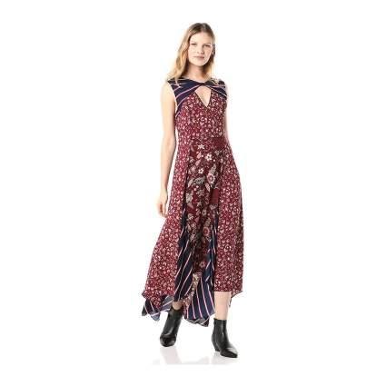 BCBG patchwork dress