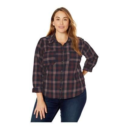 Carhartt womens plaid shirt