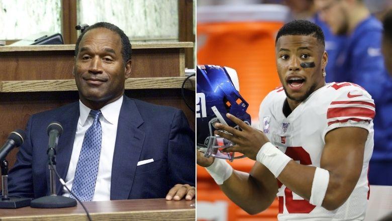 "O.J. Simpson slams ""soft"" Giants, defends Saquon Barkley"