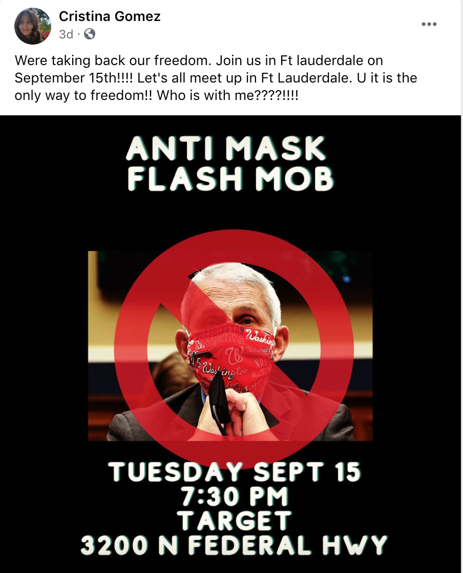 antimask protest Florida