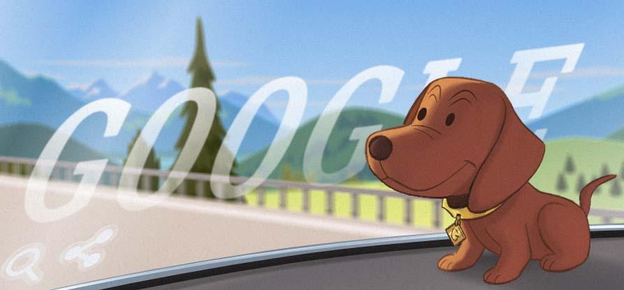 dachshund bobblehead google doodle