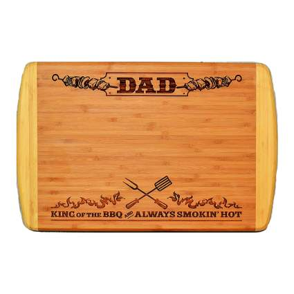dad bamboo cutting board