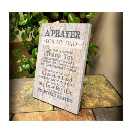 dad prayer wooden plaque