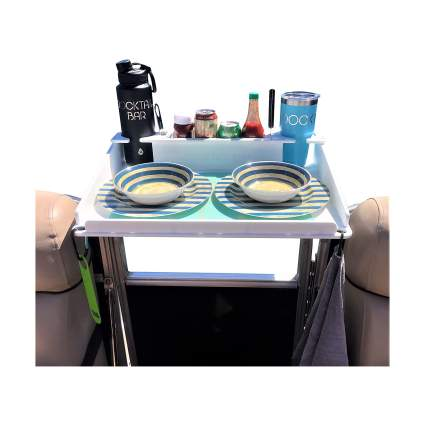 Docktail Pontoon Utility Table with Cup Holders and Storage