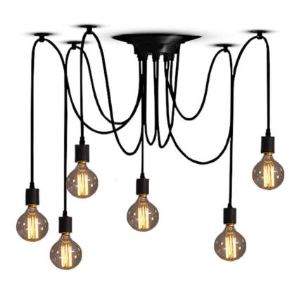 Edison light hanging fixture
