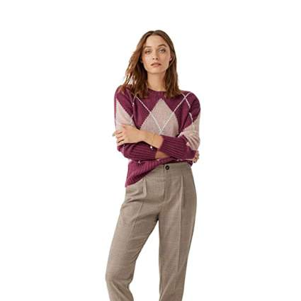 Ellos argyle sweater