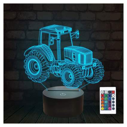 blue LED tractor lamp