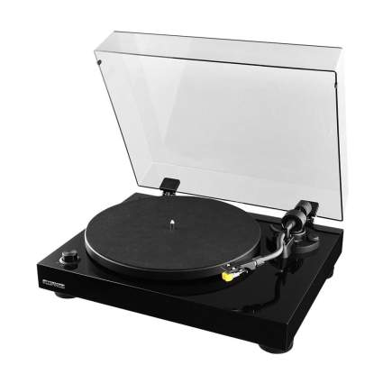 Black record player