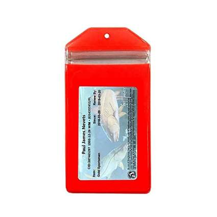 Fluorescent Orange Hunting & Fishing License Waterproof Case