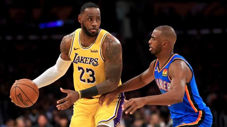Lakers forward LeBron James, and good friend Chris Paul.