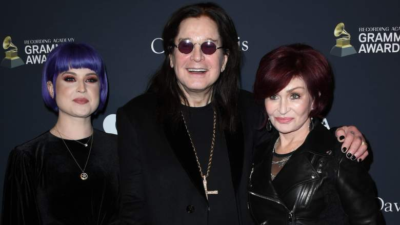 """(L-R) Kelly Osbourne, Ozzy Osbourne and Sharon Osbourne attend the Pre-GRAMMY Gala and GRAMMY Salute to Industry Icons Honoring Sean """"Diddy"""" Combs on January 25, 2020 in Beverly Hills, California."""