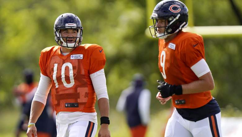 Bears QB competition Trubisky Foles
