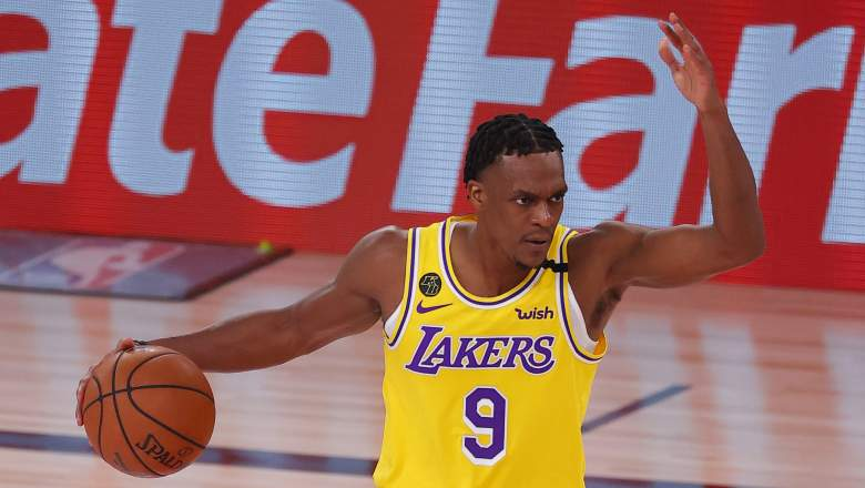 Rajon Rondo, Lakers, in Game 1 of the Western Conference finals.