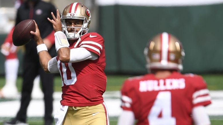 49ers Rule Out Jimmy Garoppolo vs. Giants, Nick Mullens to Start