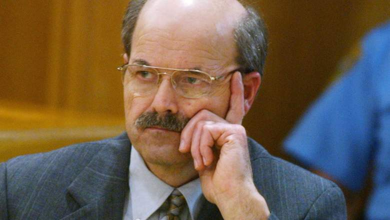 Confessed serial killer Dennis Rader, known as BTK, listens to testimony in the sentening phase of his trial in Sedgwick County Court August 17, 2005 in Wichita, Kansas. Rader, of Park City, Kansas, has pleaded guilty to 10 counts of murder for killings which spanned three decades.