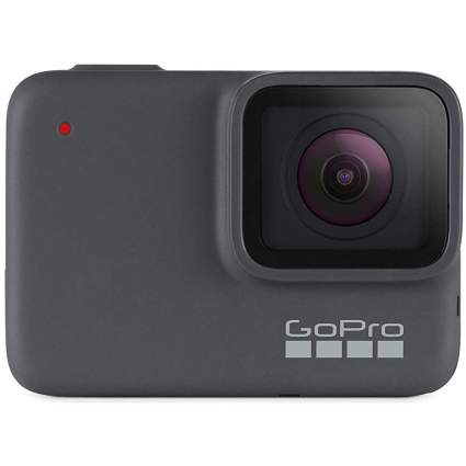 Silver GoPro Hero7 camera