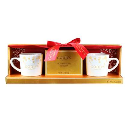 godiva cocoa gift set for two