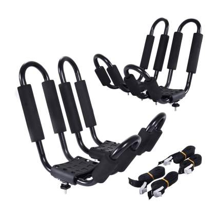 Goplus Universal J- Shape Kayak Racks (2 Pairs)