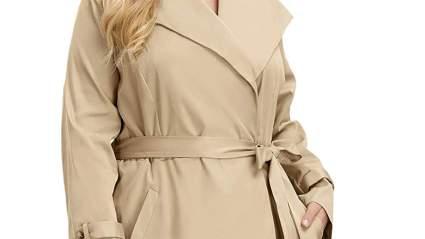 Hanna Nikole Plus Size Trenchcoat