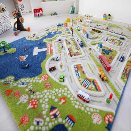 IVI Mini City Thick 3D Kids Play Mat Rug