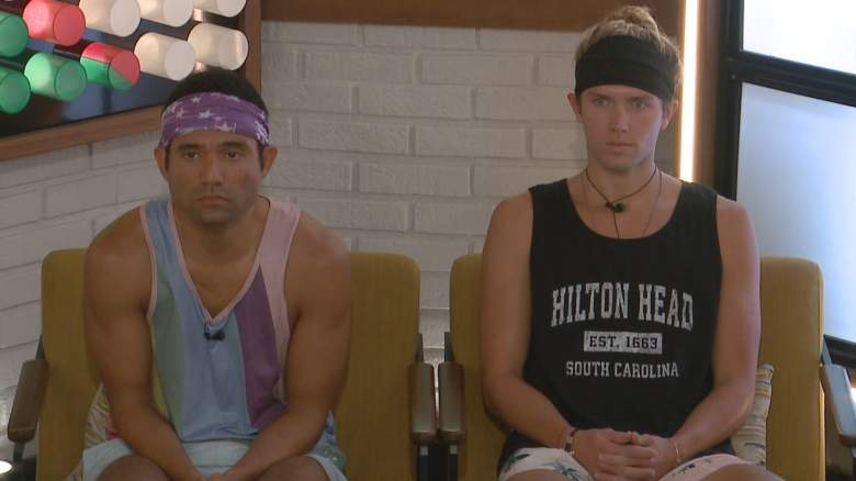 Kevin Campbell and Tyler Crispen sit on the block before the Power of Veto meeting on Big Brother 22.
