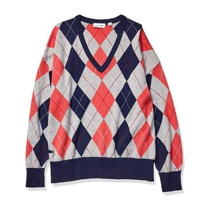 Lacoste argyle sweater