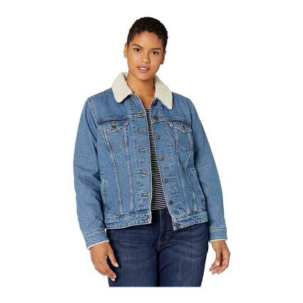 Levi's Shearling Plus Size Denim Jacket
