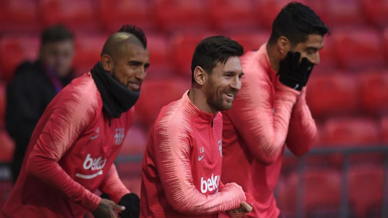 Lionel Messi, Luis Suarez & Arturo Vidal
