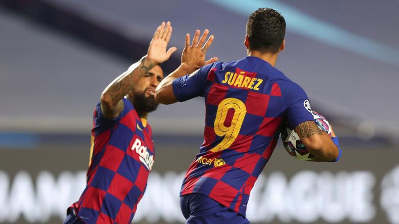Luis Suarez and Arturo Vidal
