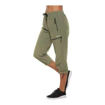 MOCOLY Women's Elastic Waist Quick Dry Cargo Pants