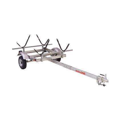 Malone EcoLight 2-Boat J-Rack Kayak Trailer Package