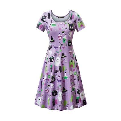 pastel purple cute spooky dress