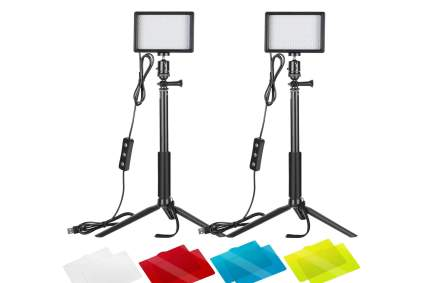 Neewer 2 Packs Dimmable video lights for streaming