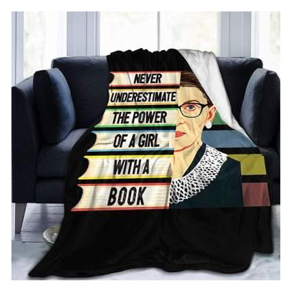 RBG quote fleece blanket