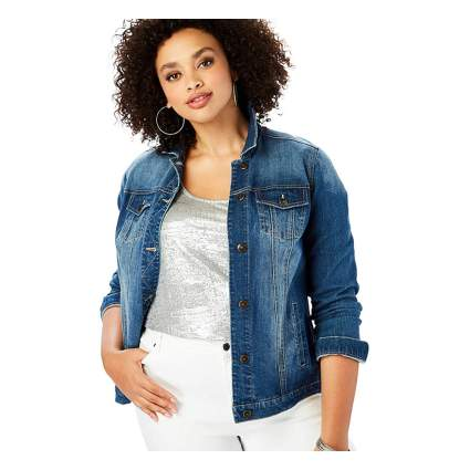 Roaman's Plus Size Denim Jacket