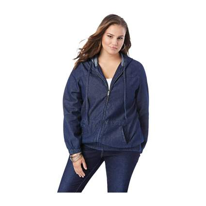 Roaman's plus size denimc jacket