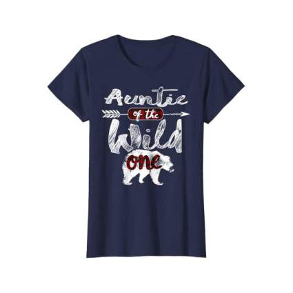 Blue auntie t-shirt