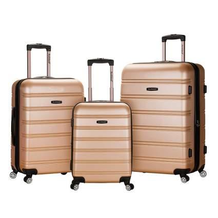 three piece hardside spinner luggage set