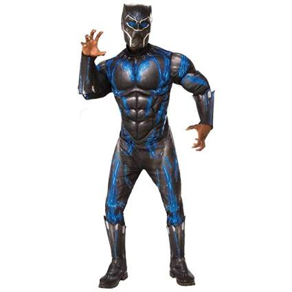 Rubie's Deluxe Black Panther Muscle Chest Battle Suit Costume