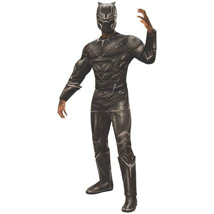 Rubie's Men's Captain America: Civil War Deluxe Muscle Chest Black Panther Costume