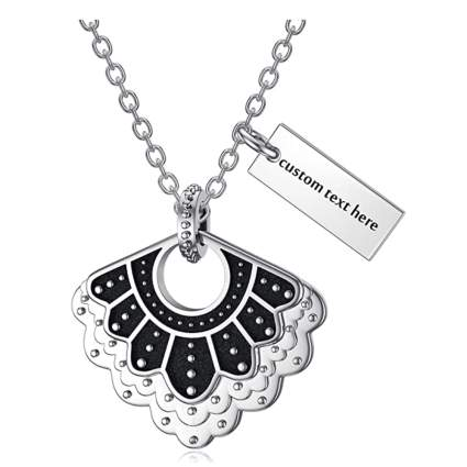 sterling silver dissent collar necklace