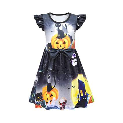 Little child's spooky haunted house dress