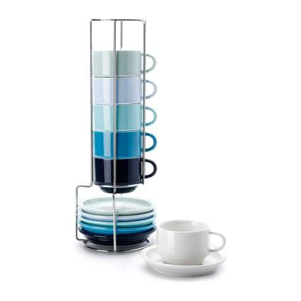 Blue gradient espresso cups