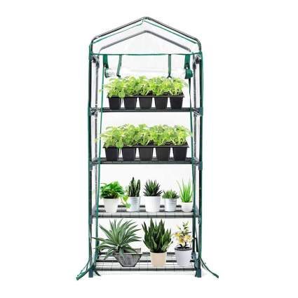 mini greenhouse plant stand