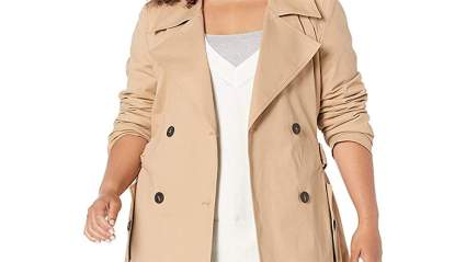 The Drop Plus Size Trenchcoat
