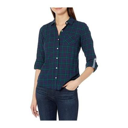 Tommy Hilfiger womens plaid shirts