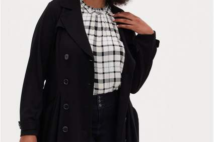Torrid black trench coat