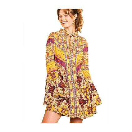 Umgee Patchwork Dress