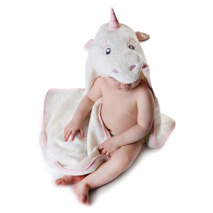 unicorn hooded baby towel
